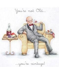 'Not old.....vintage' card