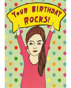 'Your Birthday Rocks!' Card
