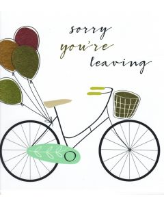 BIG Card - Sorry You're Leaving (Bicycle)