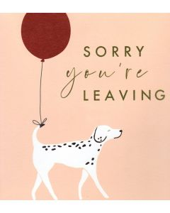 BIG Card - Sorry You're Leaving (Dog & Balloon)